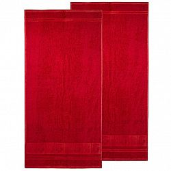4Home Ručník Bamboo Premium červená, 50 x 100 cm, sada 2 ks