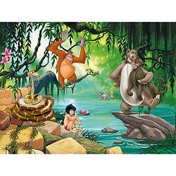 AG Art Dětská fototapeta XXL Kniha džunglí, 360 x 270 cm, 4 díly