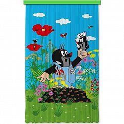 AG ART Dětský zatemňovací závěs Krtek a zrcátko, 140 x 245 cm