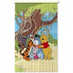 AG ART Dětský zatemňovací závěs Medvídek Pú, 140 x 245 cm