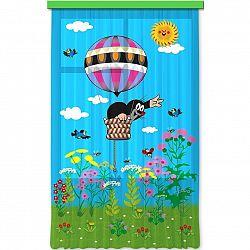 AG ART Dětský závěs Krtek v balónu, 140 x 245 cm