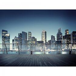 AG Art Fototapeta XXL Noční panorama mrakodrapů