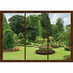 AG Art Fototapeta XXL Okno do zahrady 360 x 270 cm, 4 díly
