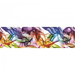 AG Art Samolepicí bordura Barevný kouř, 500 x 14 cm