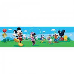 AG Art Samolepicí bordura Mickey Mouse a jeho přátelé, 500 x 14 cm