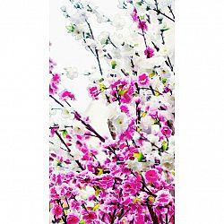 AG ART Závěs Flowers Pink, 140 x 245 cm