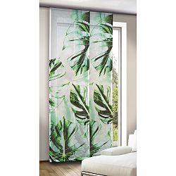 Albani závěsový panel Leo zelenomodrý, 245 x 60 cm