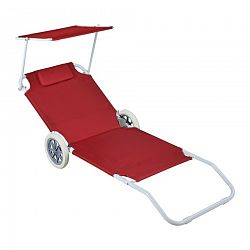 Aldo Plážový vozík - lehátko se stříškou, červená