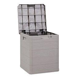 Aldo Úložný box na polstry Woody šedá, 90 l