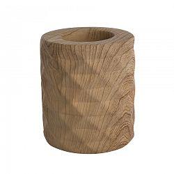 Altom Svícen porcelánový Wood, 8 x 9 cm
