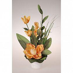 Aranžmá Magnolie v květináči oranžová, 50 cm