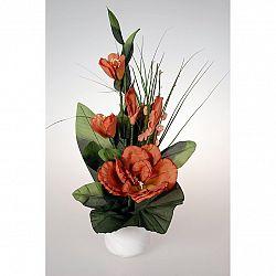 Aranžmá Růže v květináči červená, 50 cm