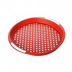 BANQUET Plastový tác 40x40x4 cm červený, protiskluzový 12G56R