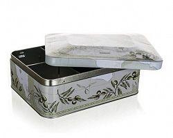 Banquet Plechovka box na čaj Olives 20 x 15,5 x 8 cm