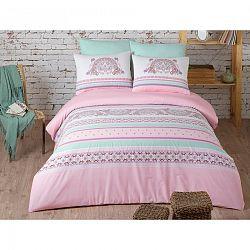 BedTex Bavlněné povlečení Electra Pink, 140 x 200 cm, 70 x 90 cm + 50 x 70 cm