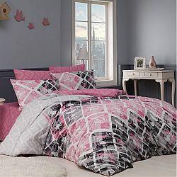 BedTex Bavlněné povlečení Riviéra růžová, 140 x 220 cm, 70 x 90 cm