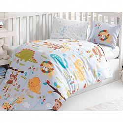 BedTex Dětské bavlněné povlečení do postýlky ZOO, 100 x 135 cm, 40 x 60 cm
