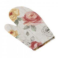 Bellatex Chňapka EMA Růže na dřevě, 28 x 18 cm