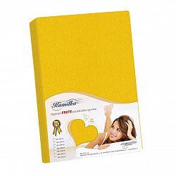 Bellatex Froté prostěradlo Kamilka žlutá, 160 x 200 cm