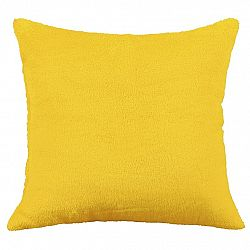 Bellatex polštářek Korall micro, žlutá, 38 x 38 cm