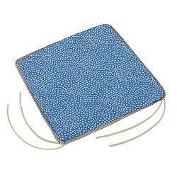 Bellatex Sedák Adéla hladký Kytička modrá, 38 x 38 cm