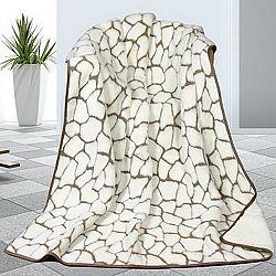 Bellatex Vlněná deka DUO Caschmere Kameny, 155 x 200 cm