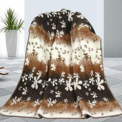 Bellatex Vlněná deka Květy, 155 x 200 cm