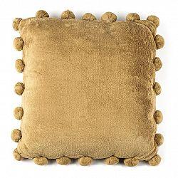BO-MA Polštářek Pompon béžová, 45 x 45 cm,