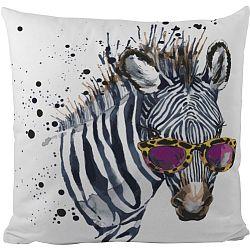 Butter Kings Dekorační polštářek Cool zebra, 50 x 50 cm
