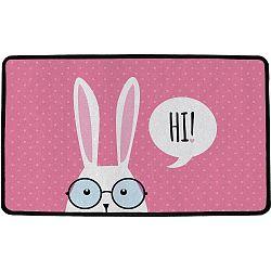 Butter Kings Vnitřní multifunkční rohožka Hi bunny!, 75 x 45 cm