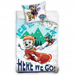 Carbotex Dětské povlečení bavlna Tlapková Patrola Snowboarďáci