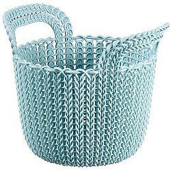 Curver Úložný box Knit kulatý 3 l, světle modrá
