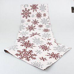 Dakls Běhoun Vločky bílá, 33 x 140 cm