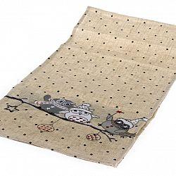 Dakls Ubrus Sovy béžová, 80 x 80 cm