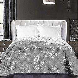 DecoKing Přehoz na postel Calluna šedá, 220 x 240 cm