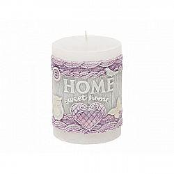 Dekoratvní svíčka Home, bílá