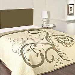 Forbyt Přehoz na postel Dominic béžový, 240 x 260 cm