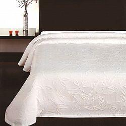 Forbyt Přehoz na postel Floral bílá, 140 x 220 cm