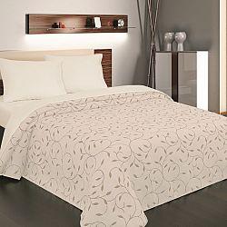 Forbyt Přehoz na postel Indiana béžová, 240 x 260 cm, 240 x 260 cm