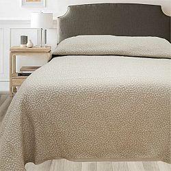 FORBYT Přehoz na postel Leaf béžová, 140 x 220 cm