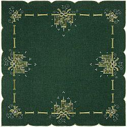 Forbyt Vánoční ubrus Svíčky zelená, 85 x 85 cm