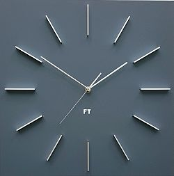 Future Time FT1010GY Square grey Designové