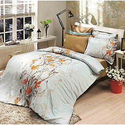 Halley home Bavlněné povlečení Giselle oranžová, 220 x 200 cm, 2 ks 70 x 90 cm