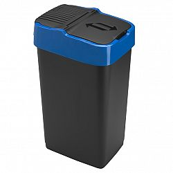 Heidrun Odpadkový koš 35 l, černý s modrým pruhem , 35 l