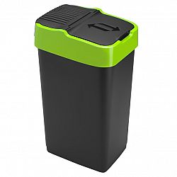Heidrun Odpadkový koš 35 l, černý se zeleným pruhem, 35 l