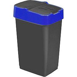 Heidrun Odpadkový koš 60 l, černý s modrým pruhem , 60 l