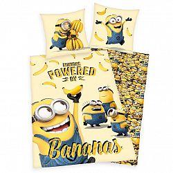 Herding Dětské bavlněné povlečení Mimoni Bananas, 140 x 200 cm, 70 x 90 cm