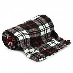 Jahu Fleecová deka Black Cube, 150 x 200 cm
