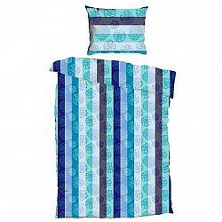 Jahu Krepové povlečení Bruno Aqua, 140 x 200 cm, 70 x 90 cm