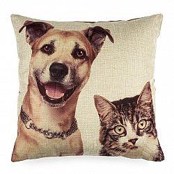 Jahu Povlak na polštářek Pejsek a Kočička, 45 x 45 cm